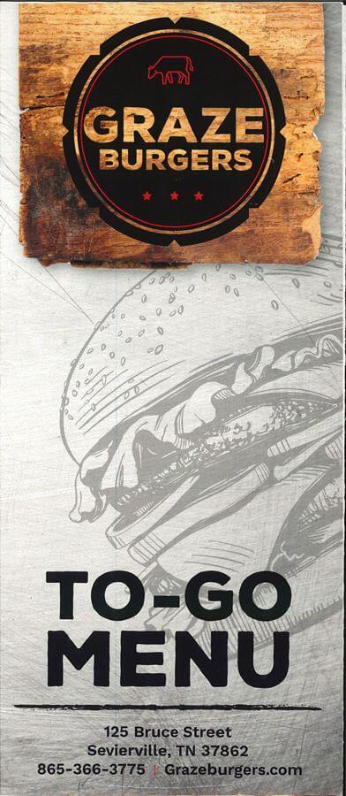 Graze Burgers Brochure Image