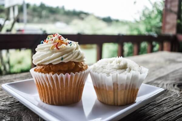 frosted cupcakes from Adina's Sweet Shop of Sevierville, TN