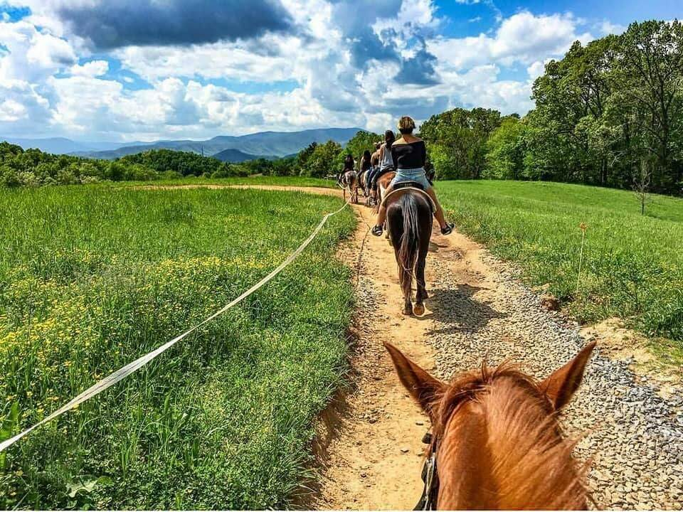 Horseback riding at Jayell Ranch in Sevierville, Tennessee
