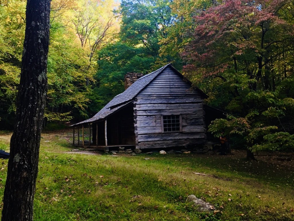 "Noah ""Bud"" Ogle Cabin, Roaring Fork Motor Nature Trail, Great Smoky Mountains"