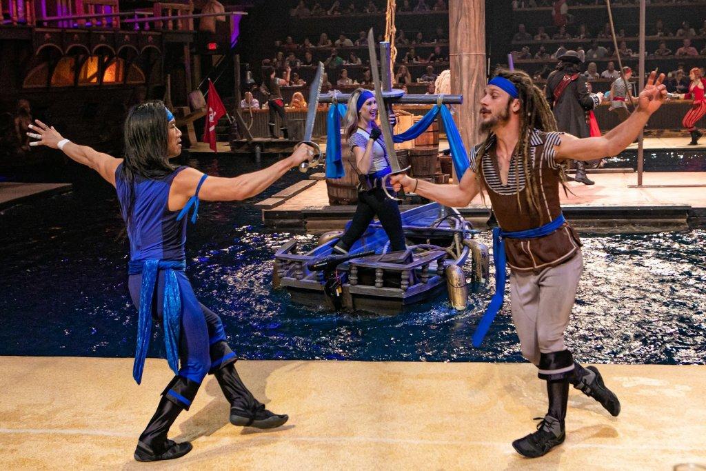 Pirates fighting at Pirates Voyage Dinner & Show