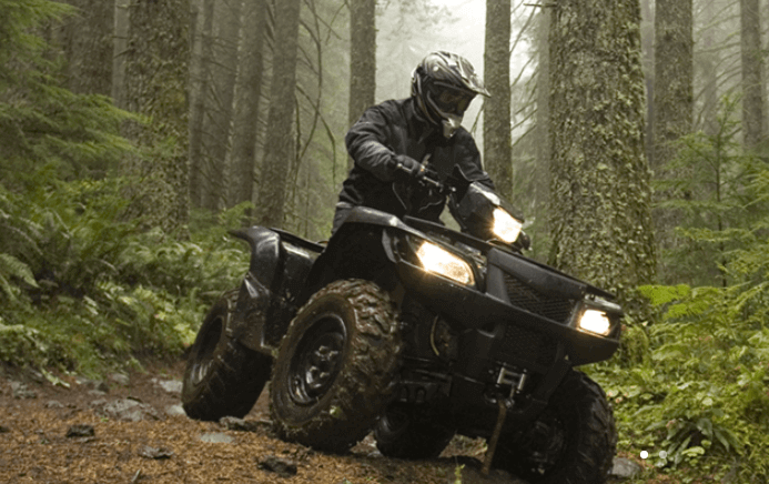 Man riding ATV through forest - Bluff Mountain ATV Rides