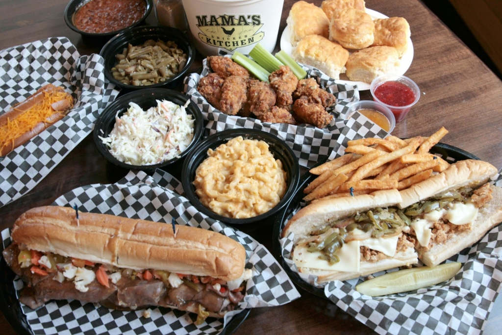 spread of food - J.O.E. and Pop's Sub Shoppe
