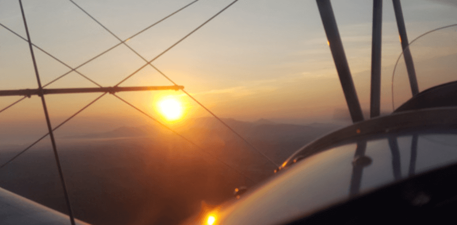 Sunset aerial view - Sky High Air Tours