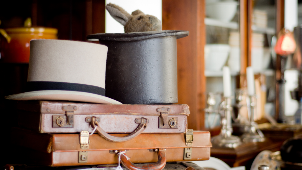 Top hat and briefcases - Smoky Mountain Relic Room