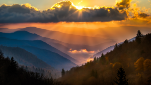 Sunset over Smoky Mountains