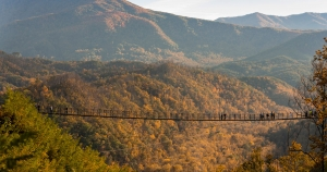 Gatlinburg Sky Trail overlooking Smoky Mountains