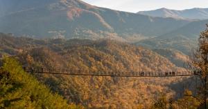 Gatlinburg Sky Trail overlooking Smoky Mountains