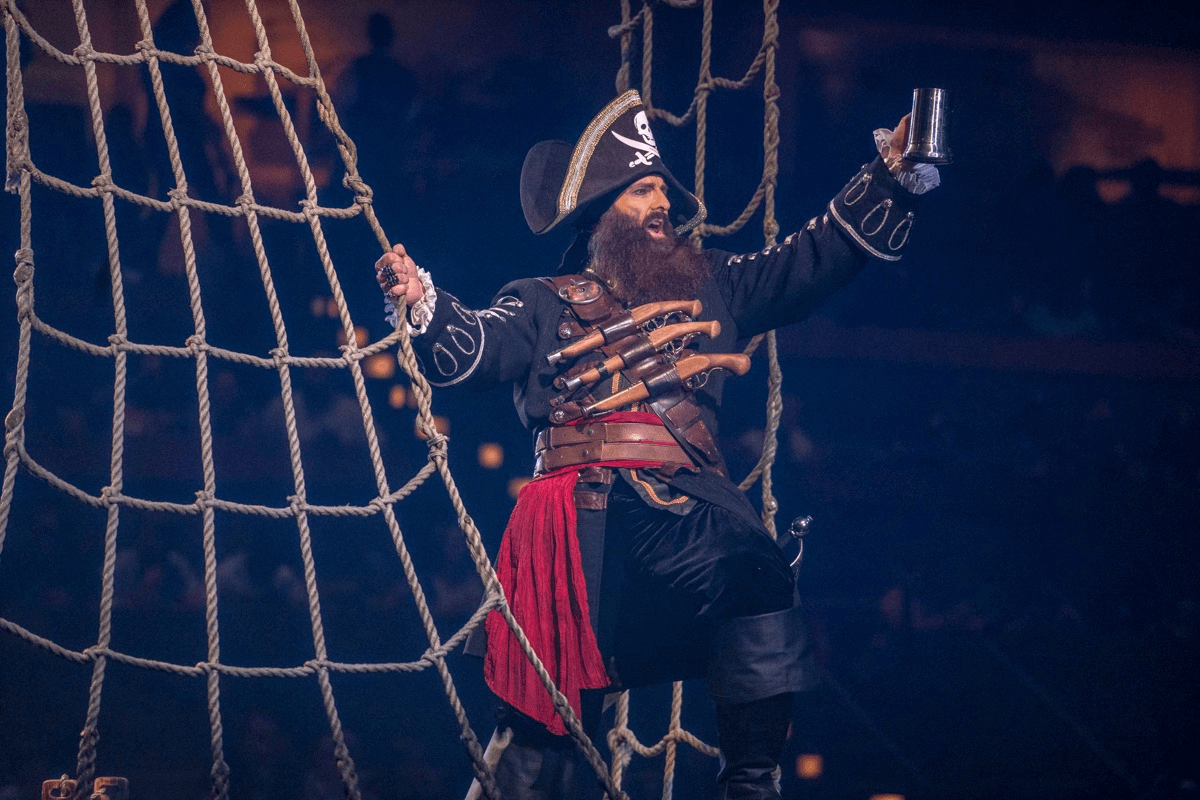 Blackbeard toasting - Pirate's Voyage Dinner & Show