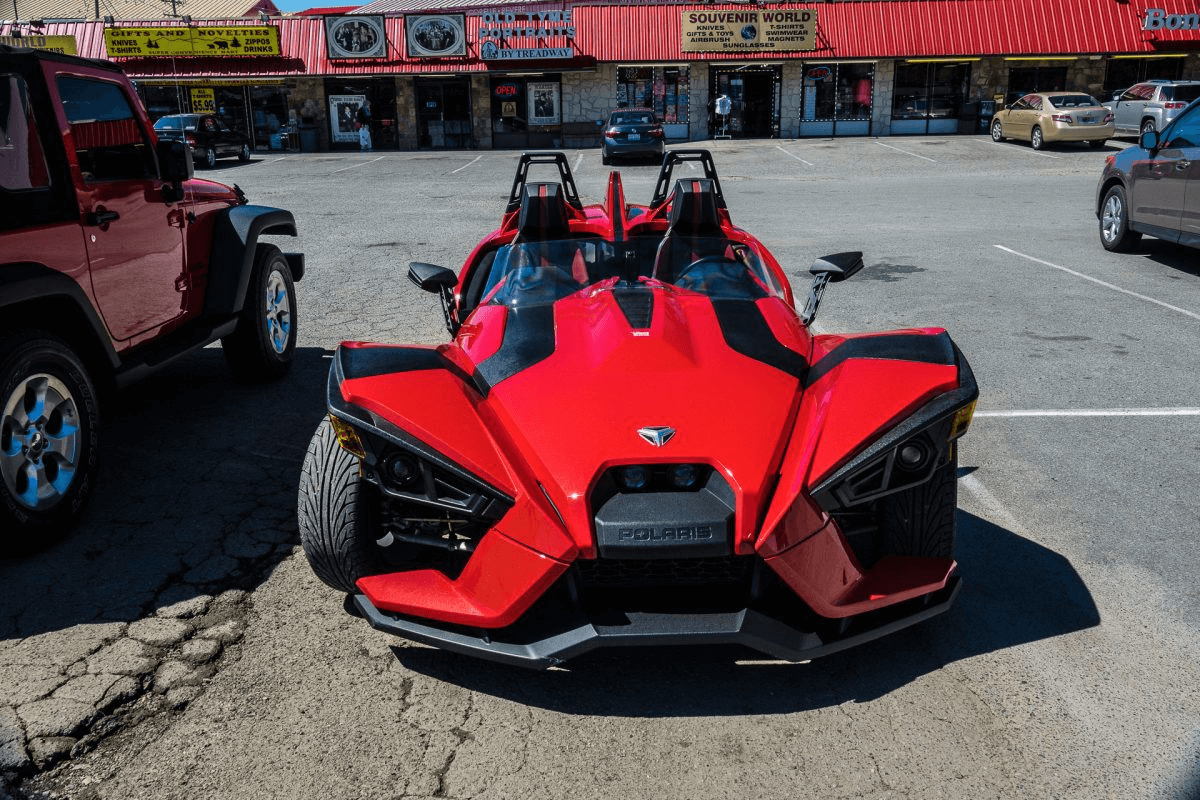 Polaris Slingshot available for rent from Wranglers & Razors