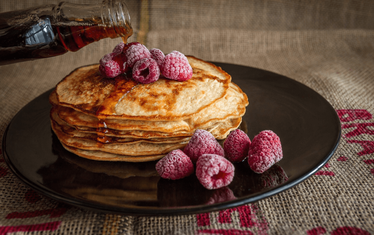 raspberry pancake stack from Flapjack's Pancake Cabin of Sevierville, TN