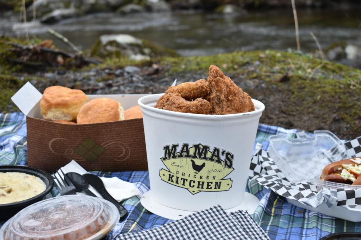 Spread of Food from Mama's Chicken Kitchen Gatlinburg