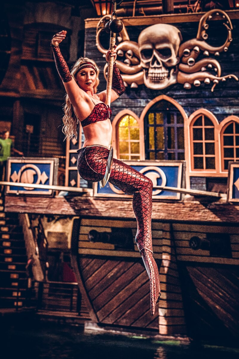 Blackbeard toasting - Pirate's Voyage Dinner & Show