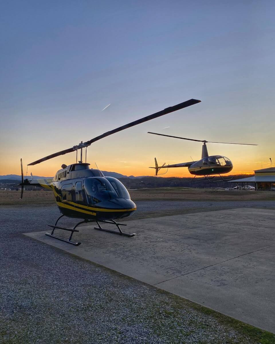 helicopter tours in the Smoky Mountains